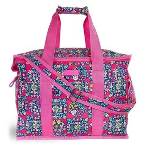Vera Bradley Pink Floral Insulated Cooler Tote NWT